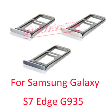20 PCS New Good Quality Single / Dual Sim Card Tray Slot Holder Reader For Samsung Galaxy S7 Edge G935 G935F Repair Parts