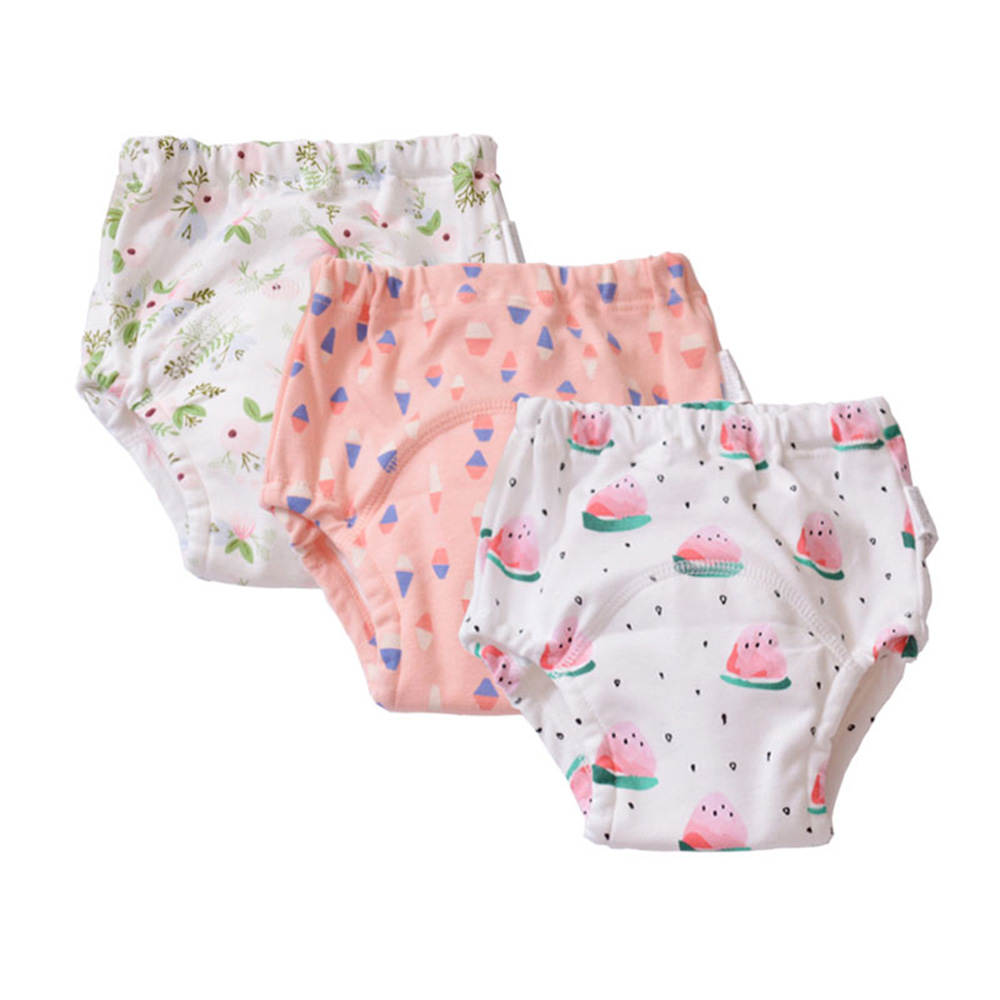3 Pack Baby Pants Toddler Waterproof 4 Layer Training Pants Shorts Underwear Cloth Diaper Nappies Child Panties Nappy Changing