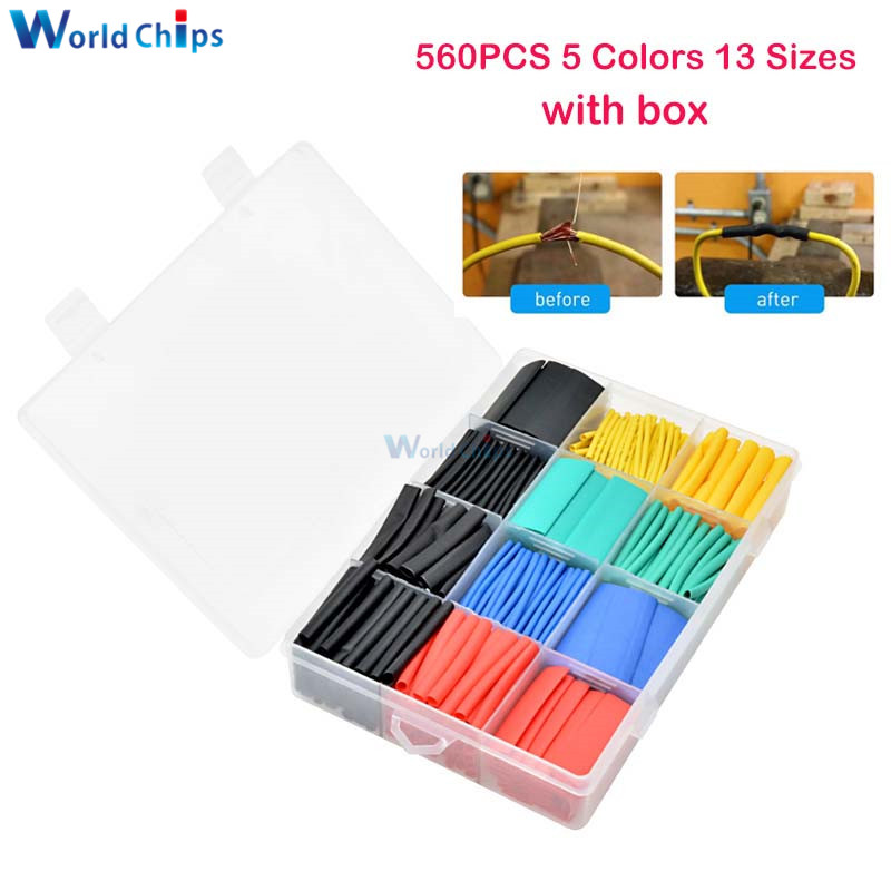 New Heat Shrink Tubing 560 Pcs Electric Insulation Tube Heat Shrink Wrap Cable