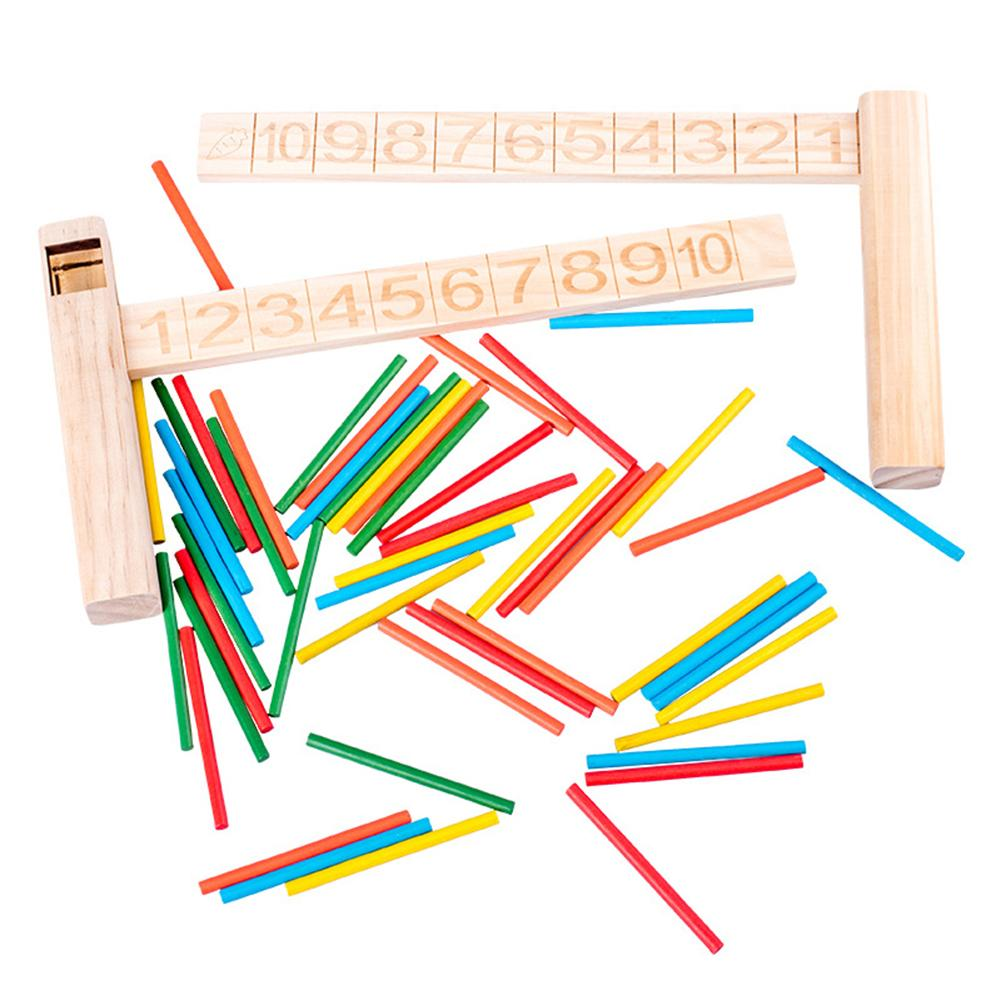 Wooden Math Addition Subtraction Slide Ruler Counting Sticks Kids Education Toy Early Learning Toys Teaching Supplies For Baby