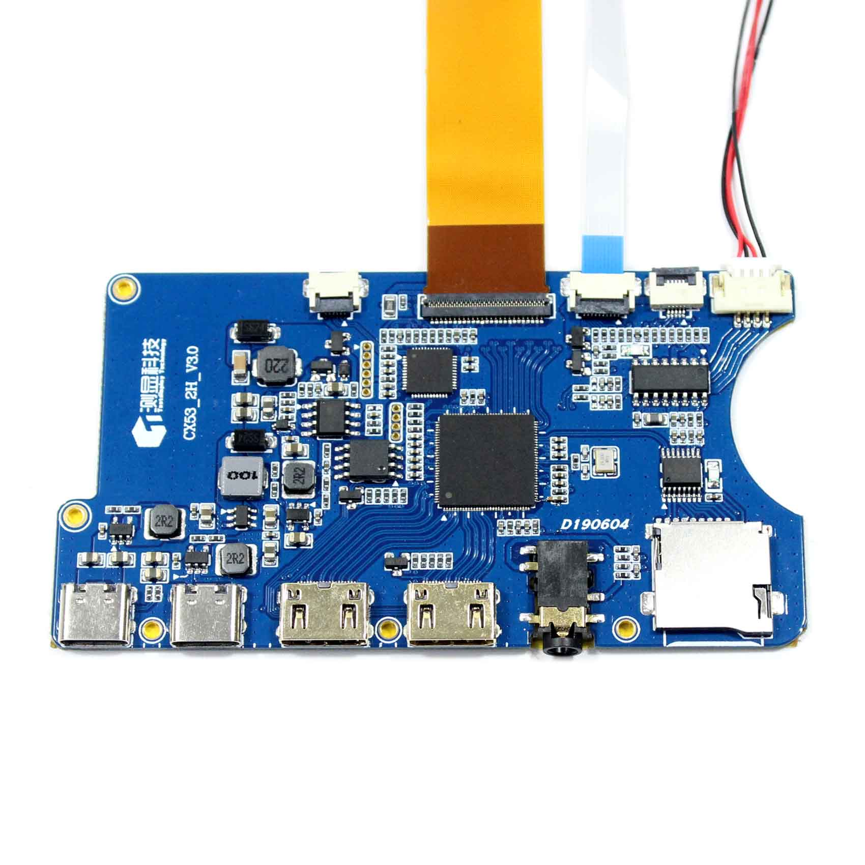 """Type C HDMI TF Card LCD Controller Contrast Ratio 1000:1 Board 12.3"""" HSD123KPW1-A30 1920X720 LCD Screen"""