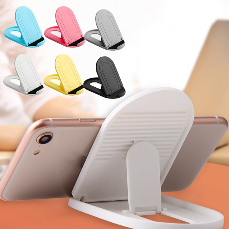 Phone Holder 1pc Mini Plastic Folding Desk Stand Mobile Phone Holder Cellphone Stand Universal For IPhone Samsung Xiaomi Huawei