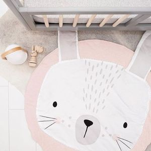 Image 5 - Cartoon Animals Baby Play Mat Foldable Kids Crawling Blanket Pad Round Carpet Rug Toys Cotton Children Room Decor Photo Props