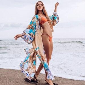 Image 1 - Mới, Có Thể Làm Plus Size Đầm Dài Đi Biển Áo Dây Plage Pareo Khăn Sarong Đi Saida De Praia Đi Biển Thun Đi Biển bao Da Bộ Lưu Điện