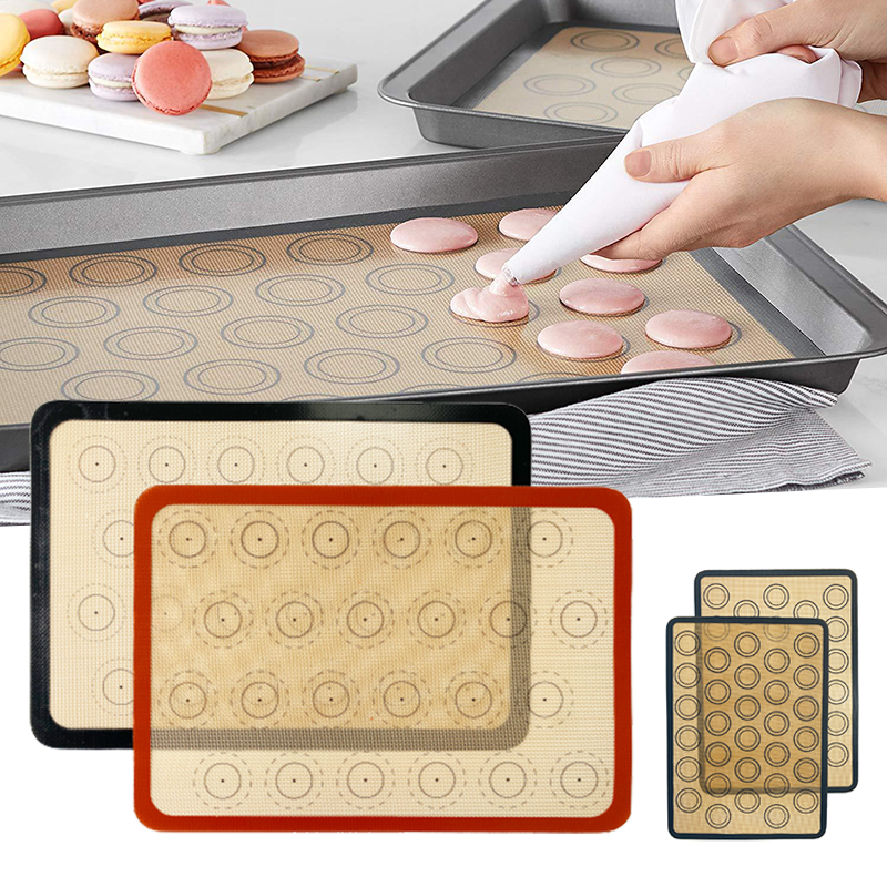 Hot sale Non-Stick Silicone Baking Mat Macaron Pad  Sheet Baking Pastry Tools for Cookie /Bread/ Macaroon/Biscuits Kitchen Tools