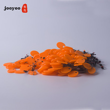 70pcs 10set Float 6+1 Orange Rubber Stopper Fishing Floats Bobber Oval Bean Space Fishing Line Tackle Equipment Smart Floats 10pcs lot 6 in 1 size sss ss s m l xl xxl rubber oval stopper fishing bobber float connector fishing tackle accessories