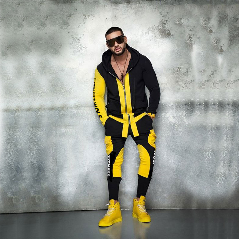 Mens Clothing Pants Hoodies Sweat-Suits Fitness-Clothes Sports Large-Sizes 2pieces And
