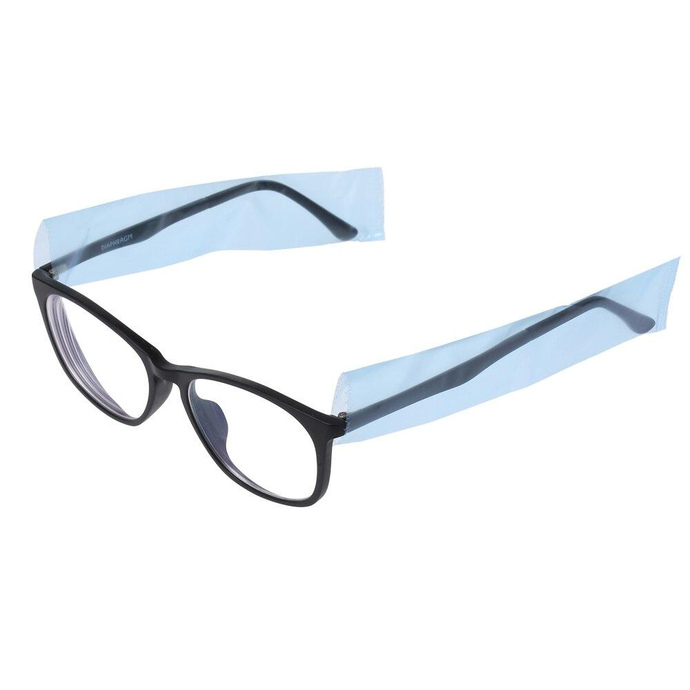 200pcs 1 Roll Disposable Glasses Leg Sleeves Protective Eyeglass Leg Cover Eyeglasses Protector Blue