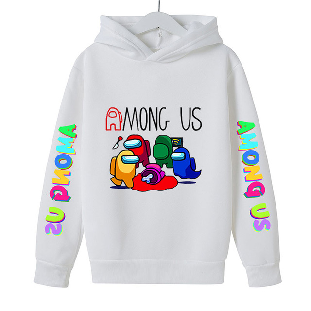 New 4 To 14 Yrs Game Among US Boys Girls Hoodies For Teens Cotton Impostor Graphic Funny Spring Autumn Clothes Sudadera 6