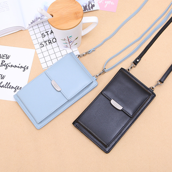 2019 New Women Casual Wallet Brand Cell Phone Wallet Big Card Holders Wallet Handbag Purse Clutch Messenger Shoulder Straps Bag women cell phone bag shoulder transparent bag card holders girl handbag ladies pu leather clutch phone wallets purse 2020