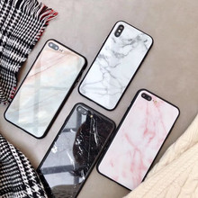 Marble Pattern Phone Case For iPhone 6 6s Plus iPhone 7 8 plus Phone Case For iPhone XS Max X XR Tempered Glass Protective Cover(China)