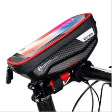 Bike Front Bag Pouch Cycling Water Resistant Bike Phone Holder Touch Screen Bicycle Bag Stem Mount Accessories Travel Bags  /BY