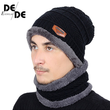 New ladies winter hat mens knit two suit autumn scarf outdoor warm