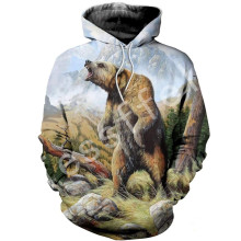 Tessffel animal Blackbear camo casual 3DPrinted Hoodie/Sweatshirt/Jacket/shirts Mens Womens HIPHOP fit colorful Harajuku style-3