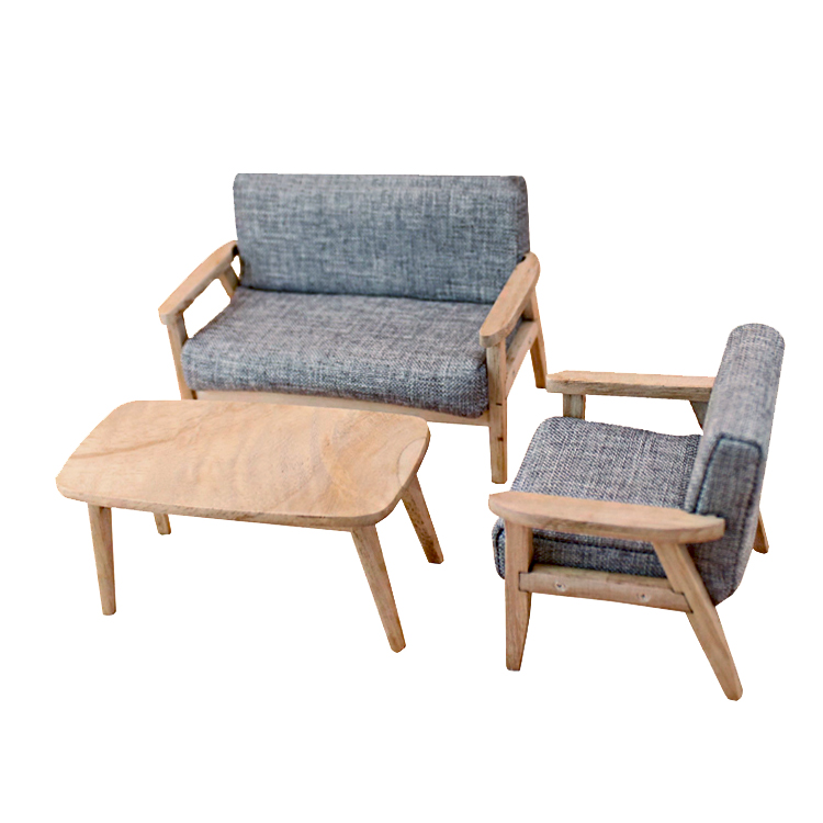 Me And House 1/12 Dollhouse Furniture Sofa Sets Dolls Decoration Handmade Simulation Mini Furniture Nordic Style