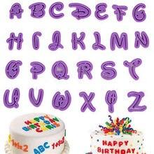 26 pçs inglês letras bolo molde alfabeto cortador de biscoito cozimento molde de cupcake fondant molde sugarcraft ferramentas de decoração do bolo