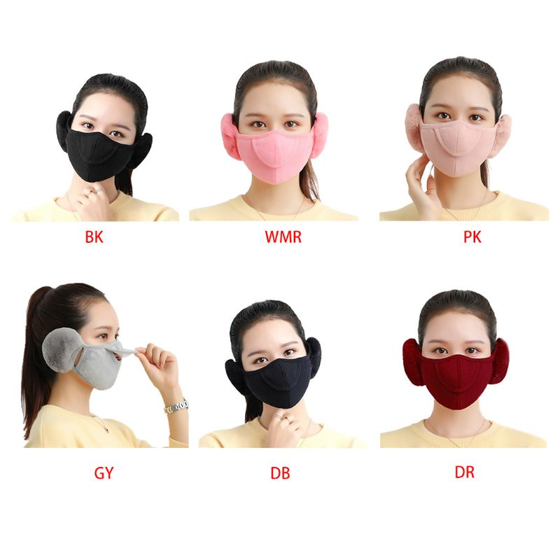 2019 New Winter Fashion Warm Adults Mask Outdoor Ski Riding Electric Car Anti-dust Cover Earmuffs