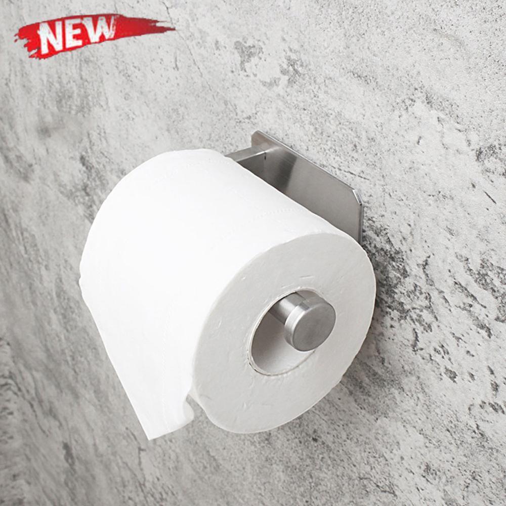Кухня рулон бумага самоклеющаяся клей стена крепление унитаз бумага держатель нержавеющая сталь сталь ванная салфетки полотенце аксессуары стойка держатели