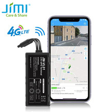 Jimi novo vl01e 4g carro gps tracker com wifi em tempo real rastreamento de monitoramento remoto via app web vários alertas rastreador para veículo