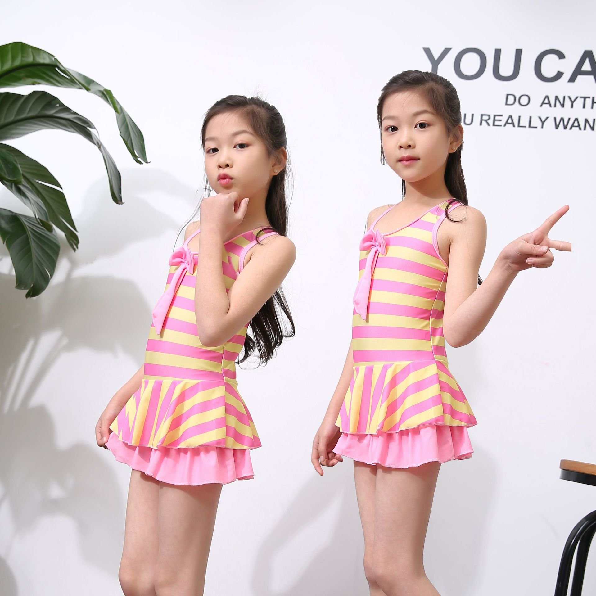 Korean-style Creative-GIRL'S Swimsuit Big Boy Dress-GIRL'S Students 2-10-Year-Old KID'S Swimwear