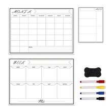 Erasable Magnetic Calendar White-Board-Kit Wall-Fridge Monthly Planner Weekly New