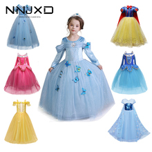 Girls Party Dress Up Princess Costume Kids Halloween Cosplay Costume Baby Girl Princess Dress Christmas Dress cheap NNJXD Polyester Spandex Voile Mesh CN(Origin) Ankle-Length O-neck Regular Full European and American Style Fits true to size take your normal size
