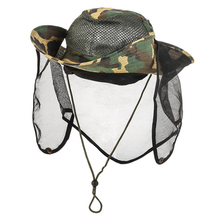 Outdoor Camouflage Cap Mesh Breathable Small Mesh Anti-insect Net Neck Protector Fishing Cap Hiking Camping Accessories Supplies 2020 fishing cap anti mosquito insect hat fishing hat bug mesh head net face protector camping hats fishing cap outdoor