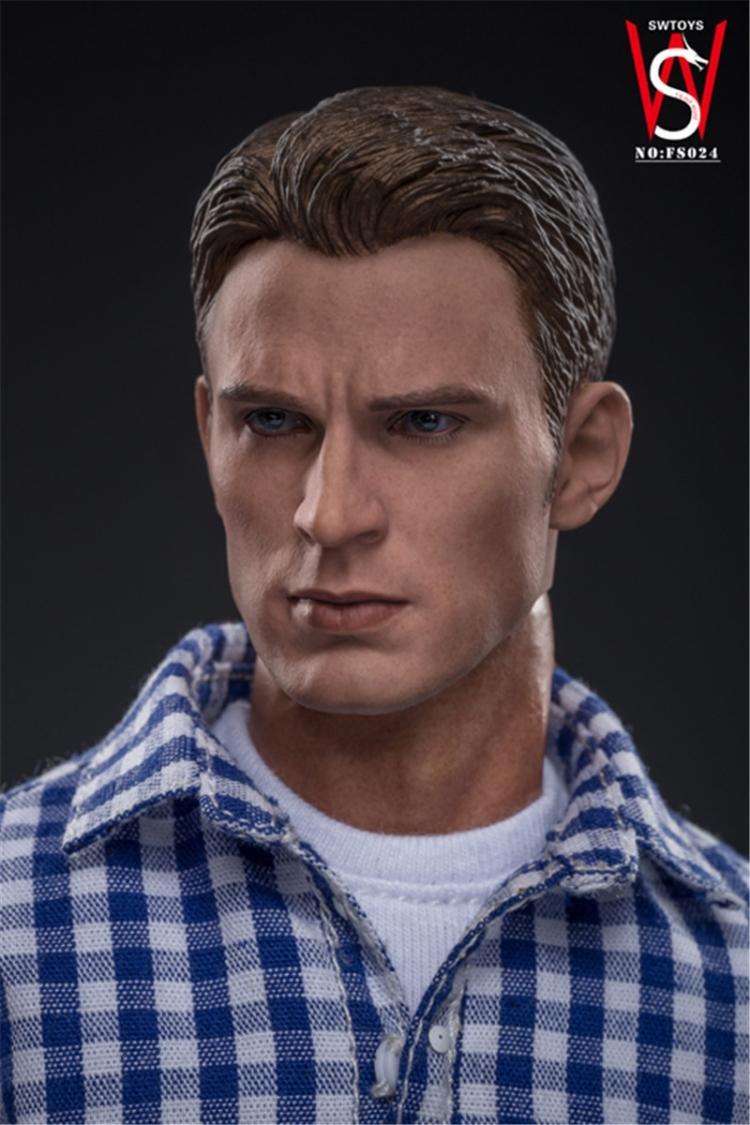 Fs024 1/6 escala figura masculina acessório avengers capitão américa steven rogers modo figura de ação conjunto completo brinquedo natal para os fãs - 6