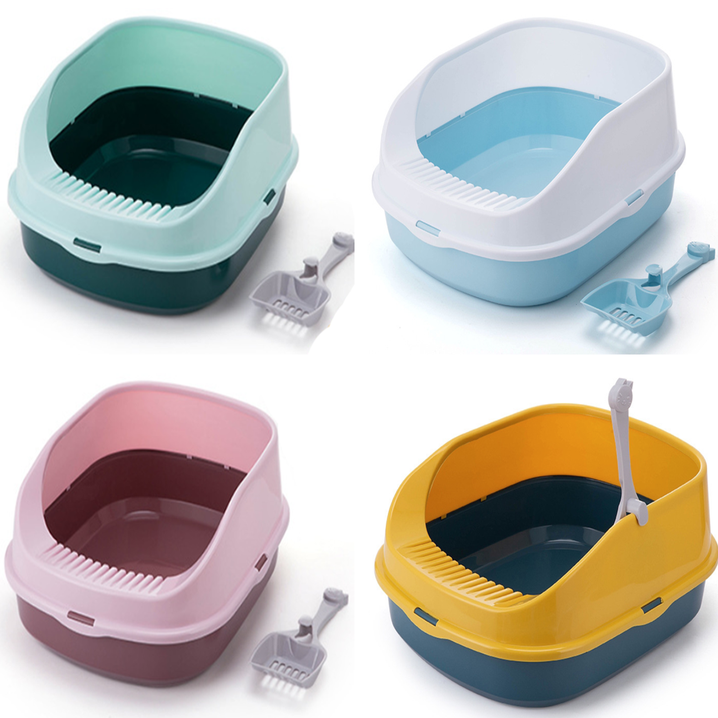 Litter Box Cat Autolimpiable Large Plastics Indoor Toilet Bedpan Anti Splash Products House Furniture Selfs Cleaning Accessories
