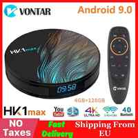 Smart TV BOX Android 9.0 4GB RAM 64GB ROM 128GB RK3318 HK1MAX lecteur multimédia Google Assistant MiNi décodeur HK1 MAX 2G/16G