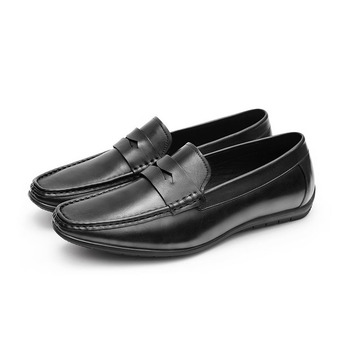 Genuine Leather Men Soft  Casual Shoes Brand Italian Men Loafers Moccasins Breathable Slip on Driving Shoes  C24