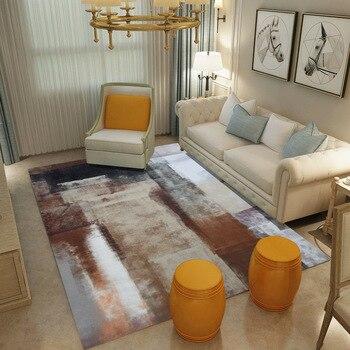 Alfombra grande de tinta abstracta moderna Para Sala de estar, Tapetes antideslizantes...