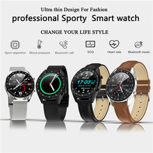 L7 ECG Smart Watch with Bluetooth call blood pressure oxygen sport Smartwatch Women For Android&IOS Samsung gear s3 DZ09 GT08 V8(China)