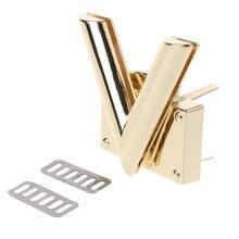 V Shape Clasp Turn Locks Twist Lock Metal Hardware For DIY Handbag Shoulder Bag Purse все цены