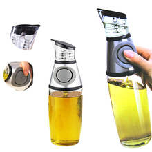 250ml/500ml Metering Oil Bottle Press Type Healthy Control Kitchenware Measurement Container Kettle Cup