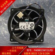 For CoolerMaster FA08025M12LPD 12V 0.50A 804057-001 80*80*25mm Cooling Fan 4pin Cooling Fan Processor Cooler Heatsink Fan wholesale cooling fan for acer 4750 4750g 4752g 4743g 4755g fan heatsink