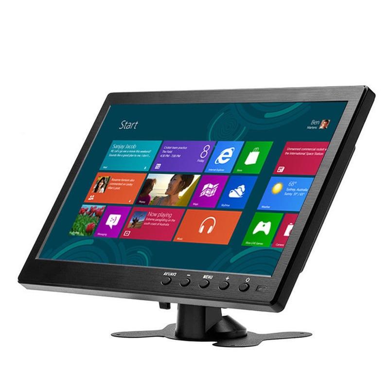 10.1 polegada 1366x768 Monitor com entrada VGA HDMI BNC USB Portátil para PS3/PS4 XBOX360 Raspberry Pi janelas 7 8 10 Sistema de CCTV
