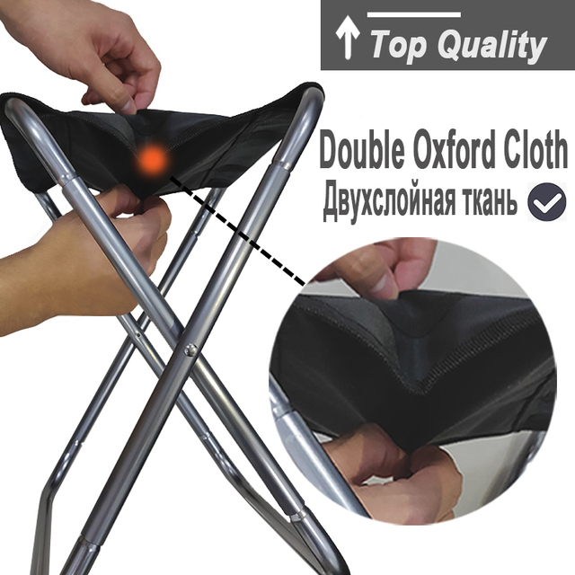 Folding Fishing Chair Lightweight Picnic Camping Chair Foldable Aluminium Cloth Outdoor Portable Easy To Carry Outdoor Furniture 1