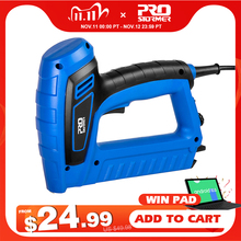 2000W Electric Nail Gun 220V 240V Nailer Stapler Woodworking Electric Tacker Furniture Staple Gun Power Tools by PROSTORMER