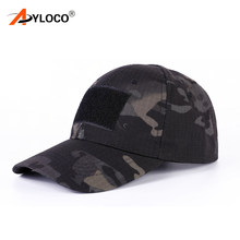 Tactical Snapback Camouflage Hat US Army Tactical Baseball Cap Men Hunting Rip-Stop Adjustable Paintball Combat Caps(China)