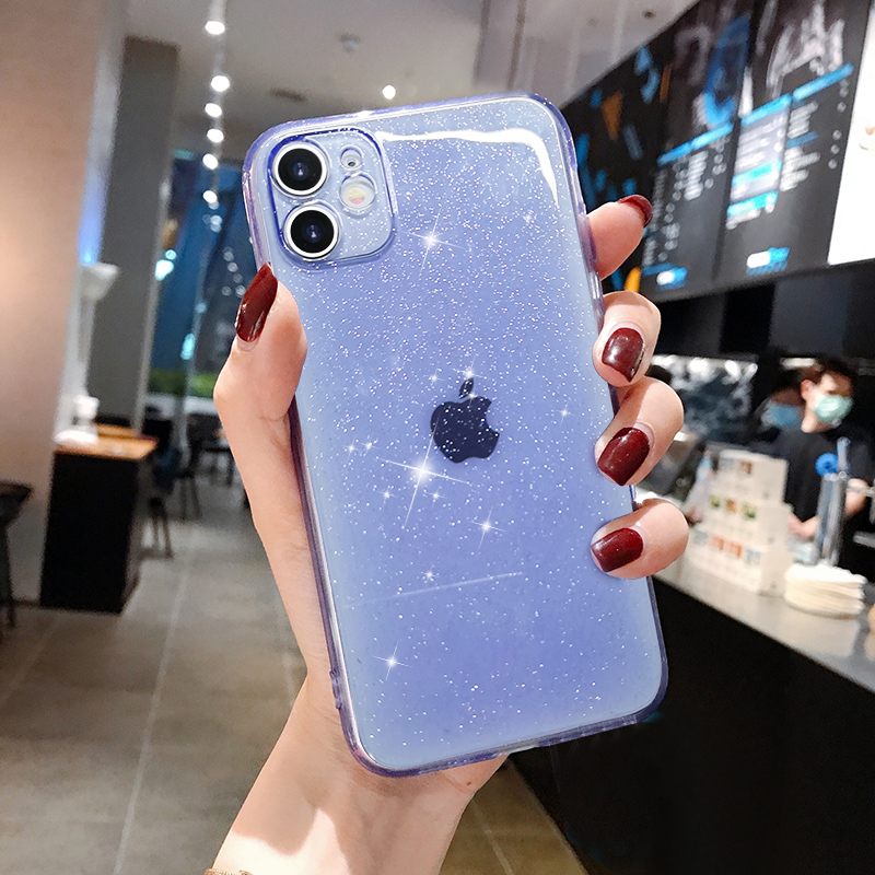 Luxury Candy Transparent Phone Case For iphone 11 12 mini Pro Max XS X XR 7 8 plus SE 2021 Soft Silicone Shockproof Cases Cover 5