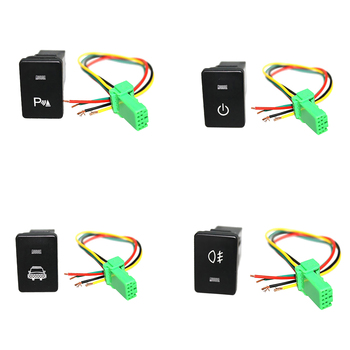 4x Push Rocker Button Switch White LED Headlight & Parking Light For Toyota 4Runner 2010- image