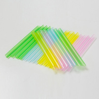 5000 Pcs Disposable Plastic Straws pointed Multicolor juice Milk tea drinking straw Kids Birthday Wedding party Store Supply