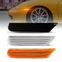 2 pçs dinâmico led marcador lateral luz seta sinal de volta blinker indicador lâmpadas para porsche 996 911 carrera turbo targa boxster 986