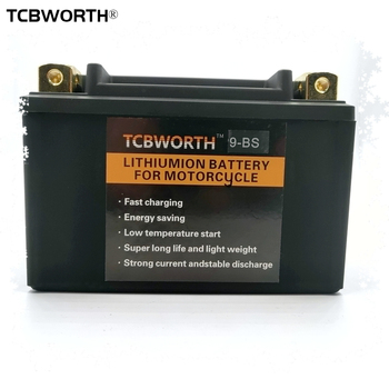 TCBWORTH 9-BS 12V CCA 350A LiFePO4 Motorcycle Starter Battery 9Ah Scooter Lithium Battery With BMS YTX9-BS for ATVs Jet Ski's image