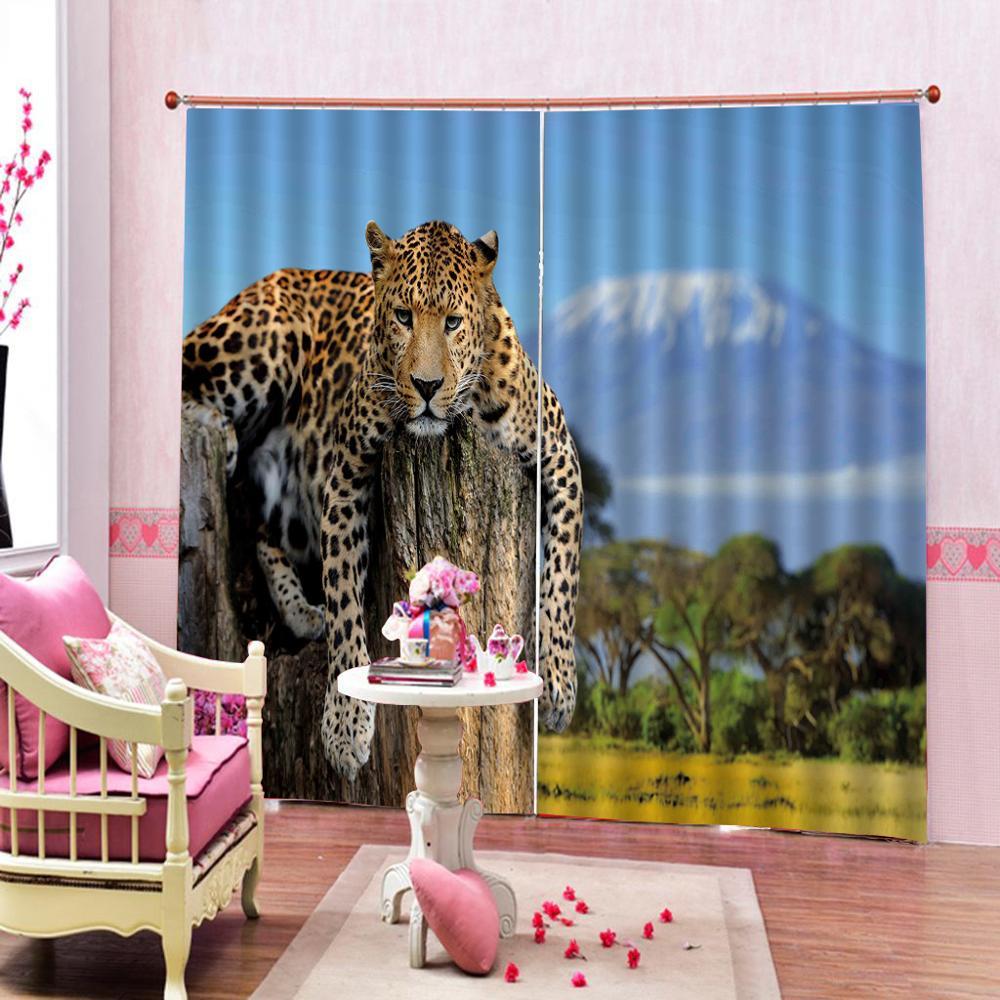Rideaux d'impression 3D tigre blanc sur mesure pour salon ou hôtel