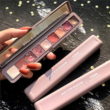 Novo 9 Colors Glitter Eyeshadow Palette Eye Shadow Palette Pigment Shimmer Matte Eyeshadow Makeup Flash Shine Shadow Kit 5283