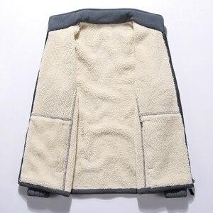 Image 2 - Vestes en molleton polaire pour hommes, nouveau col montant dhiver, manteau chaud épais, grande taille 6XL 7XL 8XL 9XL, collection 2019
