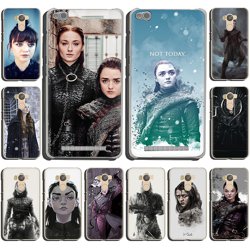 Game of Thrones Arya Stark Hard Phone Case for Xiaomi Redmi 5 Plus 6A 4A S2 Note 5A Prime 5 6 7 8 Pro 4 4x 7 8A K20 Pro image