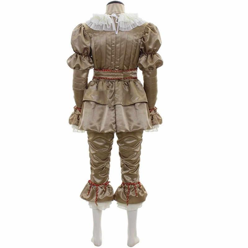 ホット映画それ: pennywise マスクスティーブン王のラテックスハロウィンマスク章 2 コスプレ衣装ピエロハロウィン衣装大人の子供